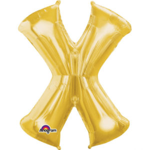 Amscan Fóliový balónek písmeno X 86 cm zlatý
