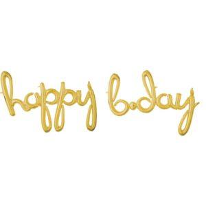 """Amscan Fóliový balonek """"happy b-day"""" zlatý"""