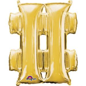 Amscan Fóliový balónek symbol # 86 cm zlatý