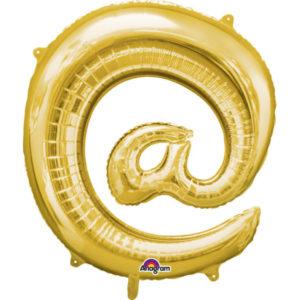 Amscan Fóliový balónek symbol @ 86 cm zlatý