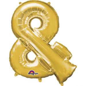 Amscan Fóliový balónek symbol & 86 cm zlatý
