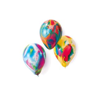 Amscan Latexové balonky mix barevné mramorové 18 cm - 8 ks