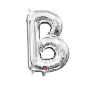 Amscan Mini fóliový balónek písmeno B 33 cm stříbrný