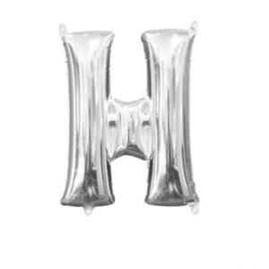 Amscan Mini fóliový balónek písmeno H 33 cm stříbrný