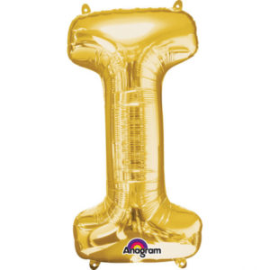 Amscan Mini fóliový balónek písmeno I 33 cm zlatý