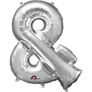 Amscan Mini fóliový balónek symbol & 33 cm stříbrný