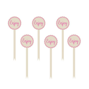 Amscan Ozdoby na cupcake - růžové 12 ks