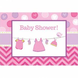 Amscan Pozvánky Baby Girl 8 ks