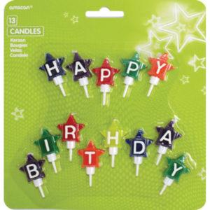Amscan Svíčky Happy Birthday - hvězdičky