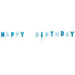 Amscan Svíčky Happy Birthday - modré