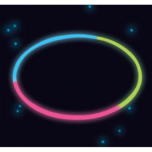 Amscan Svítící náhrdelník - trojbarevný 10 ks