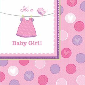 Amscan Ubrousky Baby Girl 16 ks