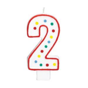 Amscan Velká narozeninová svíčka 2