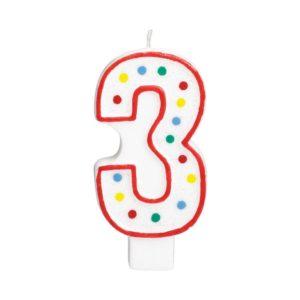 Amscan Velká narozeninová svíčka 3