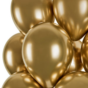 Gemar Balónek chromový zlatý 33 cm