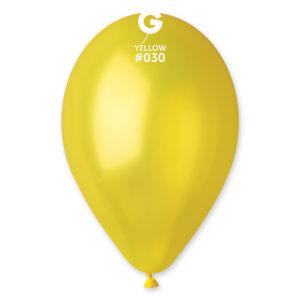 Gemar Balónek metalický žlutý 26 cm