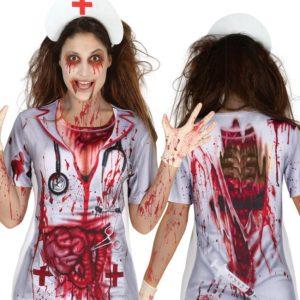 Guirca Dámské tričko s potiskem - Zombie zdravotní sestra