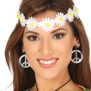 Guirca Květová čelenka - bílá