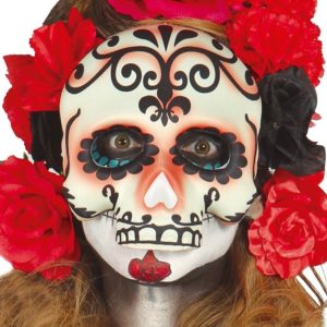 Guirca Maska lebka s ornamenty