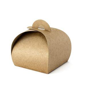 PartyDeco Dárkové krabičky - hnědé 10 ks