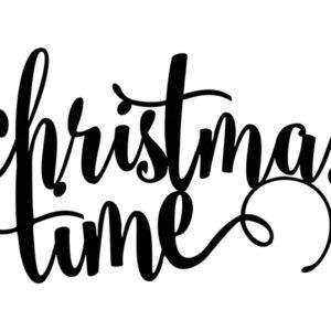 PartyDeco Dekorace Christmas time - černá 1 ks