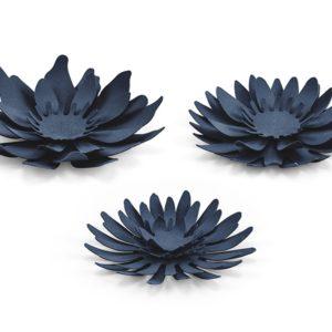 PartyDeco Dekorace Květy - modrá