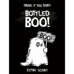 PartyDeco Etiketa na láhev - Boo