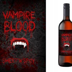 PartyDeco Etiketa na láhev - Upírská krev