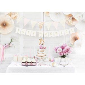 PartyDeco Girlanda - Just married bíla