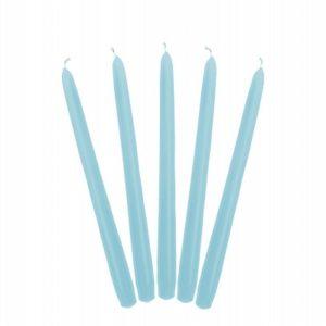 PartyDeco Kónická svíčka světle modrá - matná 24 cm