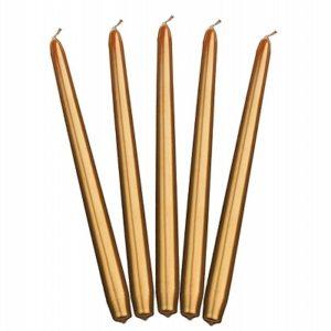 PartyDeco Kónická svíčka zlatá 29 cm