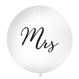 PartyDeco Kulatý latexový Jumbo balón 1M bílý MRS