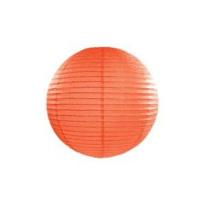 PartyDeco Kulatý papírový lampion oranžový 25 cm