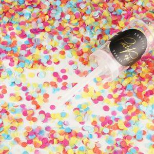 PartyDeco Malé vystřelovací konfety mix barev