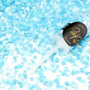 PartyDeco Malé vystřelovací konfety modré barvy.