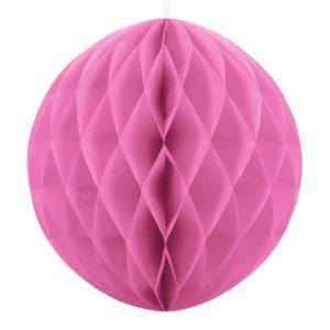 PartyDeco Papírová koule růžová 40 cm
