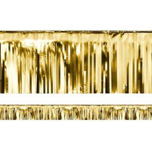 PartyDeco Párty závěs zlatý 18