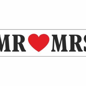 PartyDeco Svatební SPZ Mr & Mrs