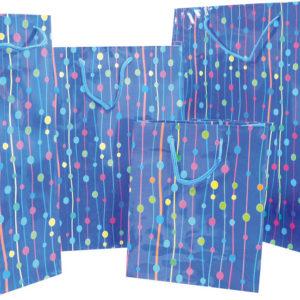 Procos Dárková taška na láhev - modrá 120 x 100 x 380 cm