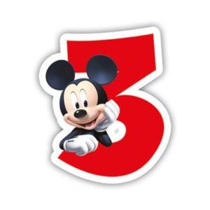 Procos Narozeninová svíčka Mickey Mouse - číslo 3