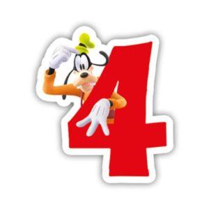 Procos Narozeninová svíčka Mickey Mouse - číslo 4
