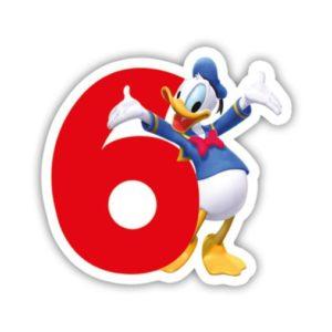 Procos Narozeninová svíčka Mickey Mouse - číslo 6