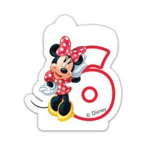 Procos Narozeninová svíčka Minnie Mouse - číslo 6