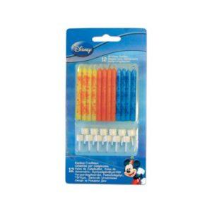 Procos Narozeninové svíčky Mickey Mouse 12 ks