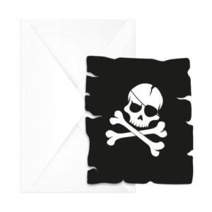 Procos Pozvánky Černí piráti 6 ks