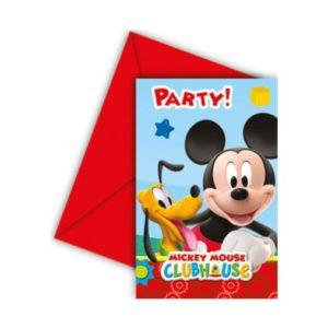 Procos Pozvánky Mickey Mouse 6 ks