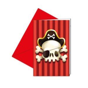 Procos Pozvánky Piráti 6 ks