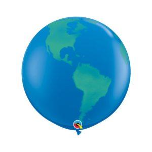 Qualatex Velký balón s motivem Země