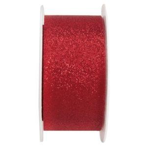 STUHA  červená glitrová 3x500cm 1ks