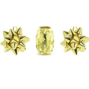 STUHA vázací zlatá metalická 10m + 2 rozetky
